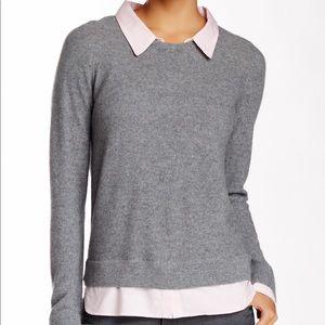 Joie Rika Grey Wool/Cashmere Sweater